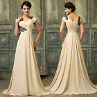 Vintage Formal Long Evening Ball Gown Party Prom Bridesmaid Dress Plus Size 6-20