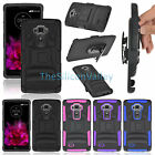 Rugged Hybrid Hard Case Armor Cover+Belt Clip Holster Stand For LG Flex 2