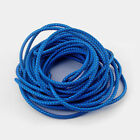 1/5 Yards 6mm Round Genuine/Real Bolo Braided Leather Cord DIY Craft Jewelry