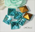 Swarovski Pointed AQUAMARINE Crystal Square vintage 4400 Stones 4mm 8mm 10mm