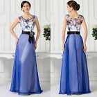 30D Chiffon Party Prom Evening Cocktail Bridesmaid Ball Gown Long Wedding Dress