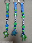Personalised Keyring bag tag Bagtag Monsters University Inc Sully Mike