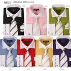 New Men's George Design Dress Shirt French Cuff in 7 Colors All Sizes UF621
