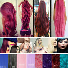 Popular Halloween cosplay Hair 3/4 Full Head Clip in Synthetic Hair Extensions P