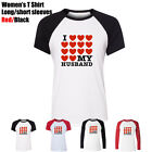 Romantic Full of love I Love My Husband Design Girl's Women's T Shirt Tee Tops