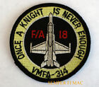 VMFA-314 BLACK KNIGHTS HAT PATCH ONCE A KNIGHT IS NOT ENOUGH F-18 US MARINES WOW