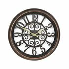 Round Antique Style Wall Clock 40cm With See Through Cut Out Design Home Decor