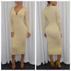 Women Sexy  Long Sleeve Bodycon Casual Club Party Evening Cocktail Long Dress