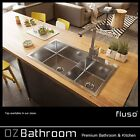 832*450*220 Kitchen Sinks 304 Stainless Steel Double Bowl 1.2mm Thick TopMount