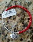 Cheap! Alex And Ani Red Color Beaded Expandable Bangle Bracelet New!!