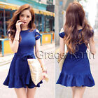 New Sexy Blue Women Summer Casual Bodycon Evening Party Cocktail Mini Dress XS S