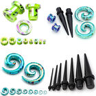 3 PAIRS Acrylic Ear Taper Stretcher Kits Screw Tunnels Plugs Gauges Expander Set