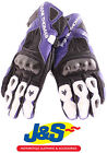 FRANK THOMAS FT2 LEATHER MOTORCYCLE GLOVES MOTORBIKE GLOVE RACE RACING BLUE J&S