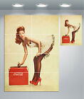 Coca Cola Vintage Pin Up Girl Giant Wall Art poster Print £14.5  on eBay