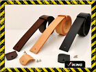 "FULL GRAIN LEATHER BELTS -SCREW ON - 1.5"" WIDE - WITHOUT BUCKLE - 3 COLOURS"