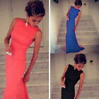 Fashion Women Ladies Sexy Sleeveless Long Cocktail Party Mermaid Padded Dresses