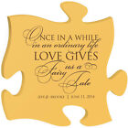 Personalized Puzzle Anniversary Wedding Gift Wall Decor Engraved