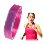 Ultra Thin Candy Color Silicone Digital LED Sports Bracelet Wrist Watch New