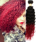 """Hot Ombre Curly Wave Bundles 10""""-30"""" Brazilian Hair Extensions 50g/pc Remy Hair"""
