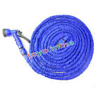 25FT 50FT 75FT 100FT Expanding Flexible Garden Car Water Hose Pipe + Spray Gun