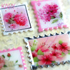 Vintage Stamps Flower Wedding Crystal Computer Phone Scrapbooking Stickers CR009
