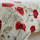 Red Poppy Reversible Duvet Set. 2 sizes.  Next Day Delivery
