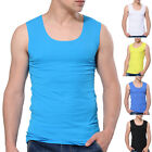Mens Summer Sport Designer Vest Top Sleeveless gym casual Holiday S M L XL WHITE