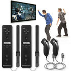 2 x Built in Motion Plus Remote Controller And Nunchuck For Nintendo Wii&Wii U