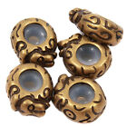 15/75pcs Fashion Antique Bronze Alloy Rubber Stopper Bead Fit Chain Bracelets L