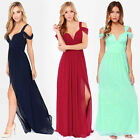 Women Formal Prom Chiffon Cocktail Party Ball Gown Evening Bridesmaid Long Dress