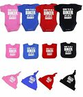 BabyPrem Baby Clothes Biker Bodysuit Vest Hat Bib Set Shower Gift Boys Girls