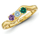 14K Solid Gold Mother's Ring 1 to 6 Birthstones, Moms fam...