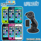 Genuine Lifeproof Fre waterproof case + Lifeactiv car suction mount iPhone 5 5S