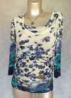 Maternity Beautiful Brand NEW Flowery Blue Top Sizes 8,10,12,14,16