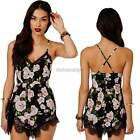 Womens Floral Lace Evening Party Playsuit Romper Jumpsuit Backless Dress ItS7
