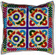"""Ethnic Embroidery Cushion Covers 40cm 16"""" Washable Cream Cotton Traditional New"""