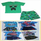 BNWT Batman Disney Cars Octonauts Spiderman Summer Pyjamas PJ T-shirt+Shorts