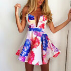 Fashion Sexy Women Low Cut Summer Casual Party Evening Cocktail Prom Short Dress