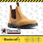 Redback Work Boots UBBA Easy Escape Soft Toe Banana Suede Leather Slip On Boot