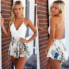 Womens Summer Floral Lace Playsuit Jumpsuit Shorts V NECK ROMPERS Trousers dress