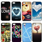 Love Heart Live Quote Hard Plastic Case Back Cover For iPhone 4 4S 5 5G 5S 5C