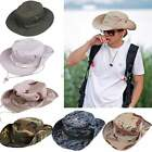 Fishing Hiking Hunting Boonie Snap Outdoor Hat Brim Ear Neck Cover Sun Cap Flap
