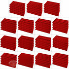 (5) Red Compartment Flocked Display Inserts For Jewelry Cases and Trays