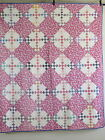 Vintage Antique Handmade Quilt Double Nine Patchwork Block Quilt