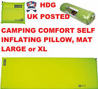 HIGHLANDER THICK TRAIL SELF INFLATING SLEEPING MATTRESS MAT PILLOW THERMALITE XL