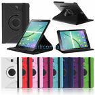 "Folio Rotating Case Stand Cover for Samsung Galaxy Tab S2 8"" 9.7"" SM-T810/T710"