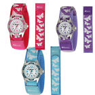 Ravel Girls Velcro Butterfly Watch Full Arabic Colour Co-ordinated Dial #R1507
