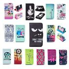 Flip Wallet Pu Leather Case Cover Stand Card Holder Pattern For Iphone Samsung