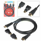 3 in 1 High Speed HDMI to Mini/Micro HDMI Adapter Cable for PC TV PS4 Blu X-Ray