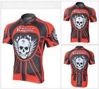 2015 Outdoor Men Cycling Clothing Bicycle Red Skeleton Team Wear Short Jersey